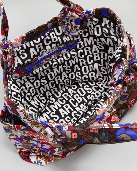 Medium Pretty Nylon Tate Tote Bag, Floral