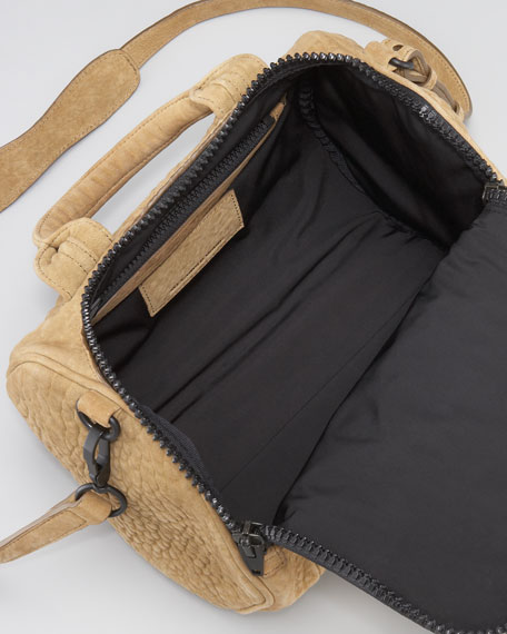 Rockie Small Crossbody Satchel Bag, Mustard