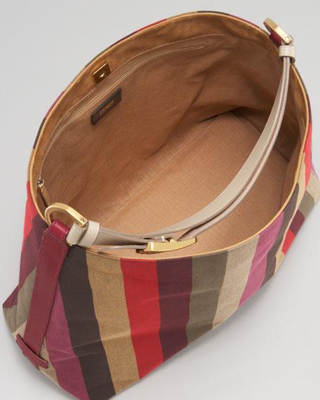 Pequin Striped Hobo Bag