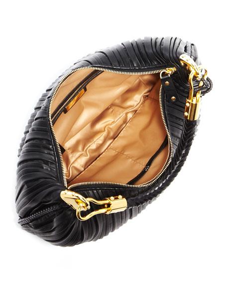 Skorpios Crescent Hobo Bag, Black