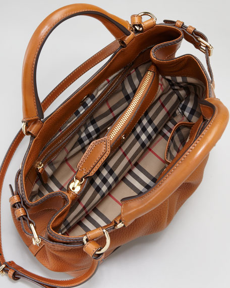Bridle-Trim Satchel Bag