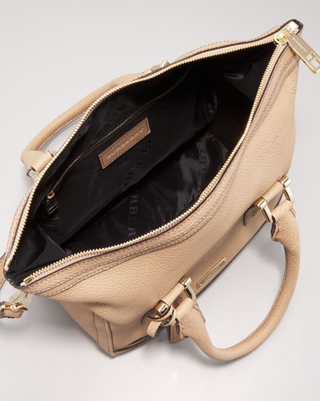 Leather Bowler Bag, Small