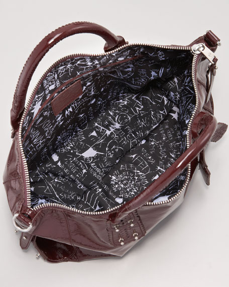 Stratford Patent Satchel Bag
