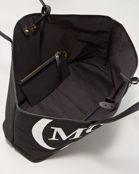 McQ Logo Canvas Tote Bag, Large