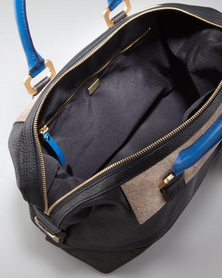 Drew Patchwork Satchel Bag