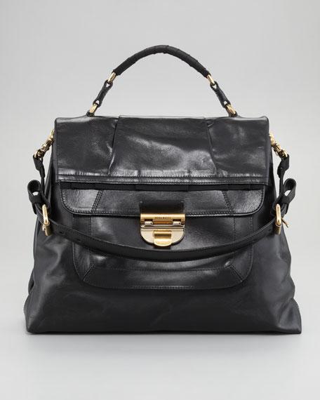 Liane Calf Satchel Bag