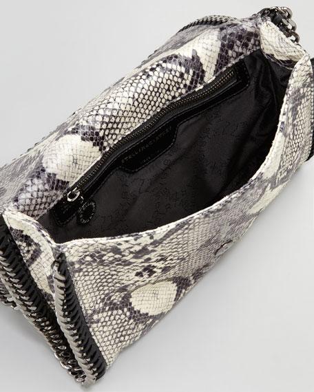Faux-Python Flap-Top Crossbody Bag