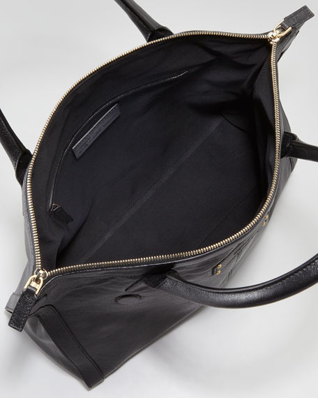 Leather De-Manta Tote Bag, Mini