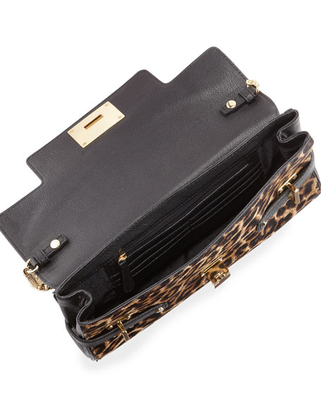 Extra-Large Astrid Calf-Hair Clutch Bag