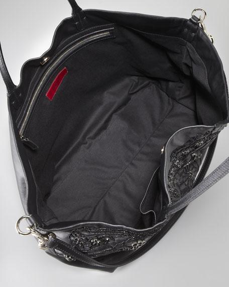 Glamorous Embroidered Tote Bag