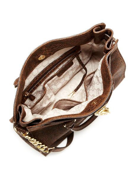 Hamilton Python-Embossed Tote Bag