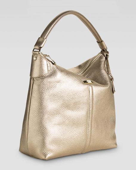 Village Avery Zip Large Hobo Bag, Gold