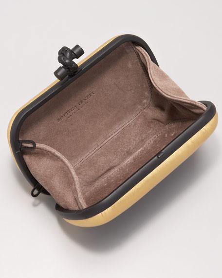 Metallic-Trim Mini Minaudiere Clutch Bag