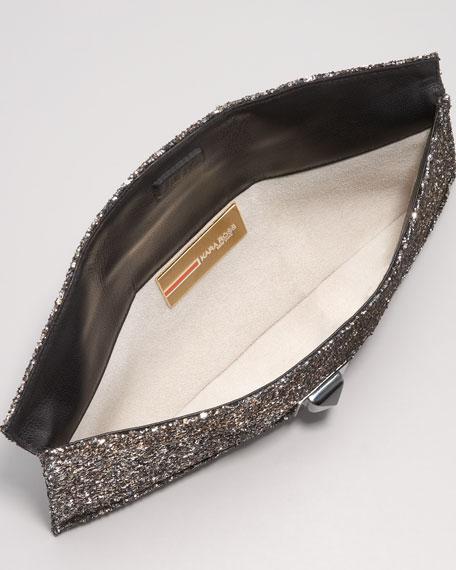 Stretch Prunella Glitter Clutch Bag