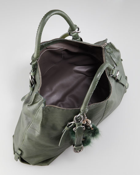 Tumbled Leather Tote Bag