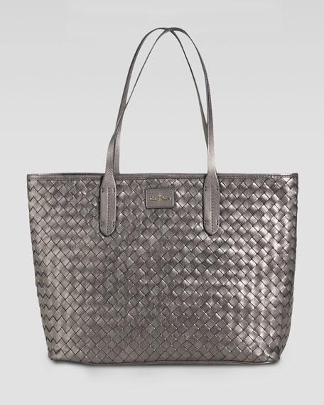 Victoria Woven-Leather Tote Bag