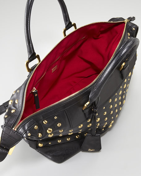 Drew Studded East-West Satchel Bag