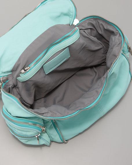 Jane Lambskin Zip-Around Bag, Acqua