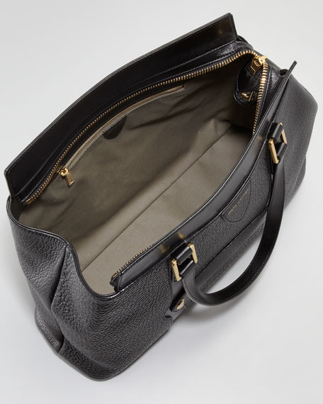 Perry Satchel Bag, Black