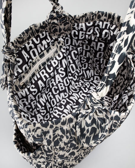 Pretty Tate Nylon Graphic Tote Bag, Tan