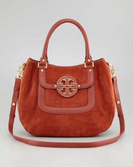 Amanda Suede Classic Hobo Bag