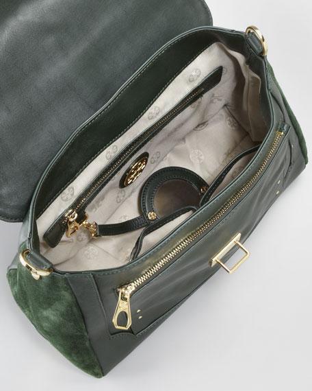 797 Suede Medium Satchel Bag