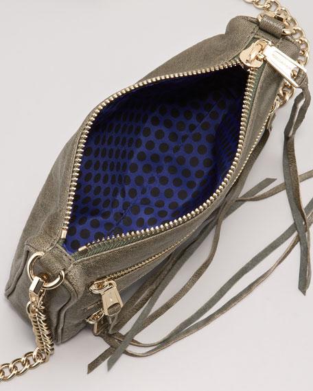 Five-Zip Mini Bag, Sage
