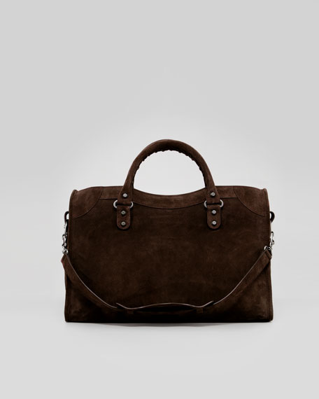 Baby Daim Suede Classic City Bag, Brun