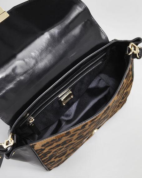 Harper Calf Hair Satchel Bag