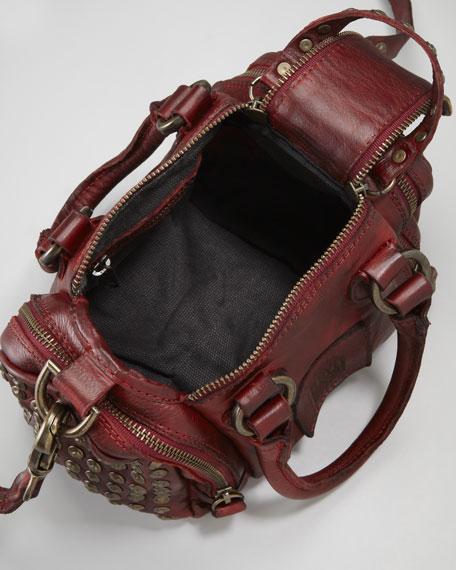 Brooke Crossbody Satchel Bag, Red