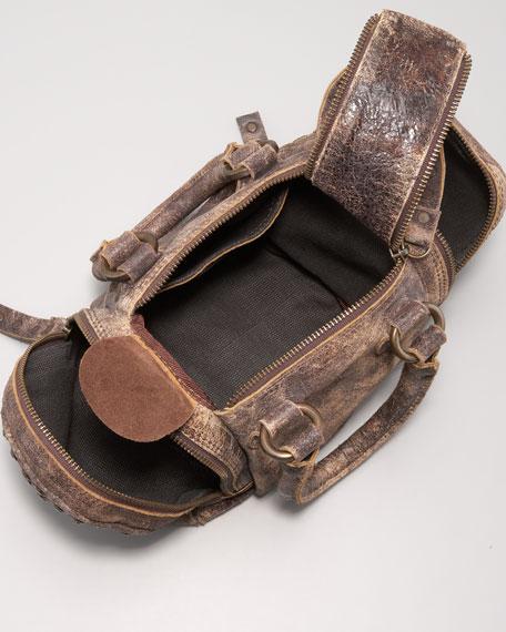 Brooke Crossbody Satchel Bag, Chocolate
