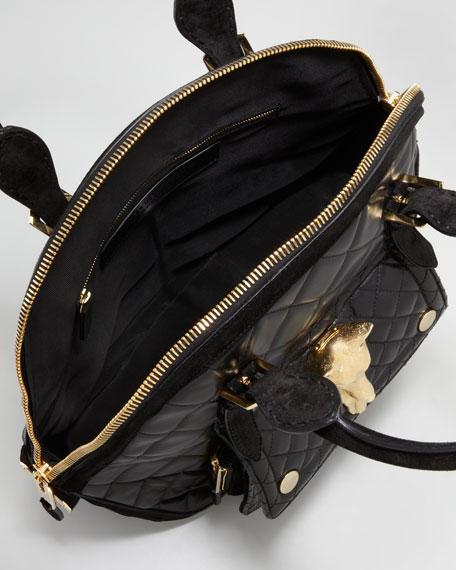 Quilted Hexagonal Tote Bag, Medium