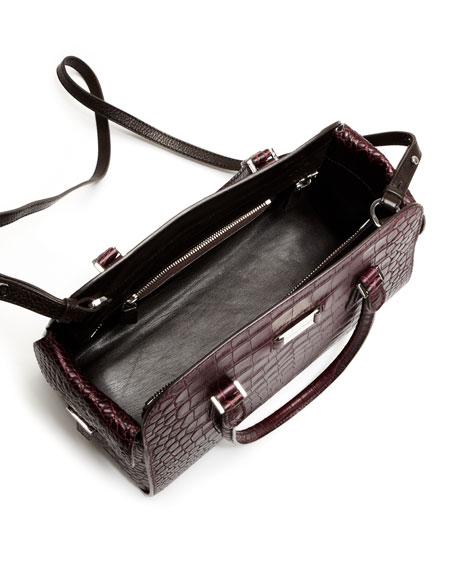 Gia Embossed Satchel Bag