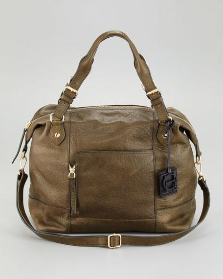 Zip Pocket-Front Satchel Bag
