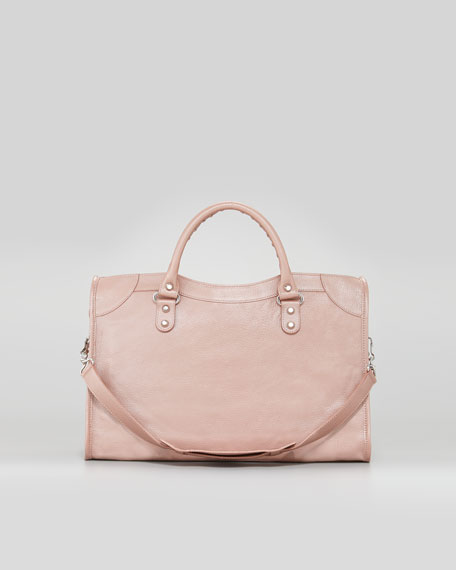 Classic Silver Pearly Bag, Rose
