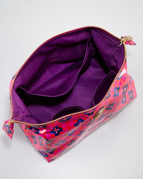 Large Molded Cosmetic Case, Party Fuchsia