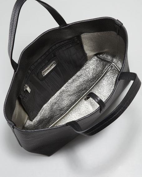 Gavina Leather Tote Bag, Black