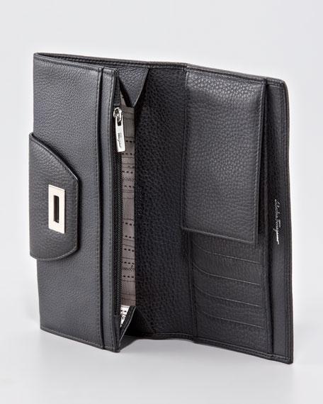 Classic Mediterraneo Continental Wallet, Black