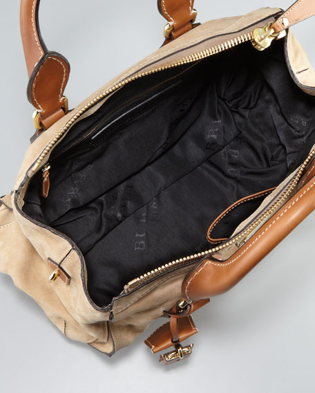 Medium Bowler Bag, Camel