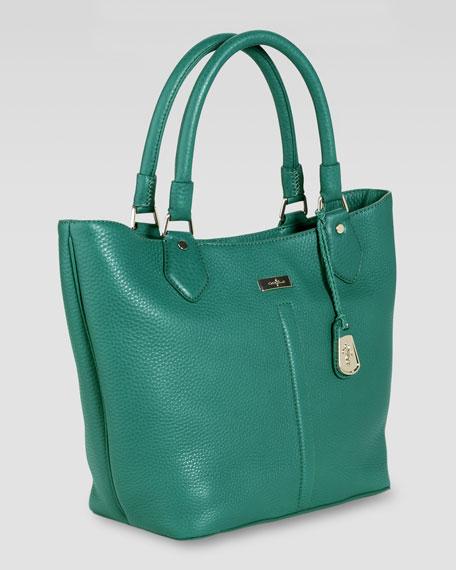 Village Serena Small Tote Bag, Emerald