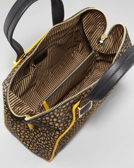 Chameleon Small Jacquard Satchel Bag