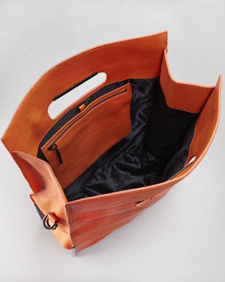 Scout Cutout-Handle Tote Bag, Tangerine