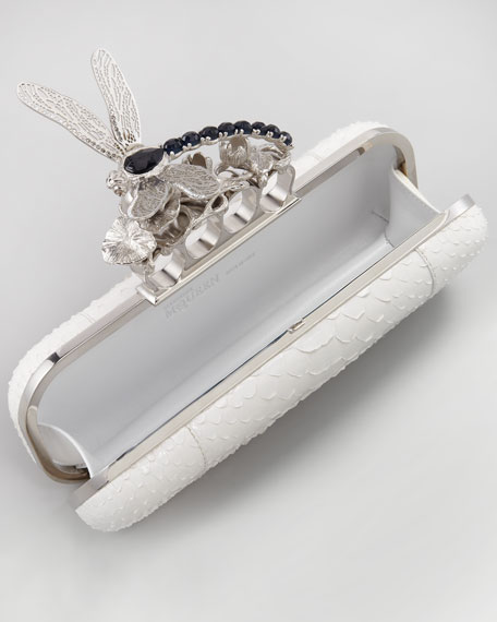Dragonfly Python Knuckle-Duster Clutch Bag