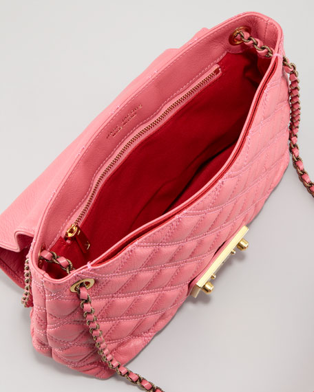 Single Baroque Large Quilted Bag, Bubblegum