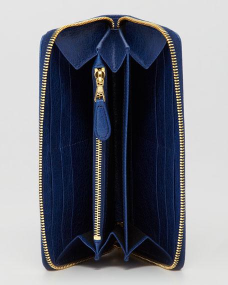 Giant 12 Golden Continental Zip Wallet, Blue Mineral