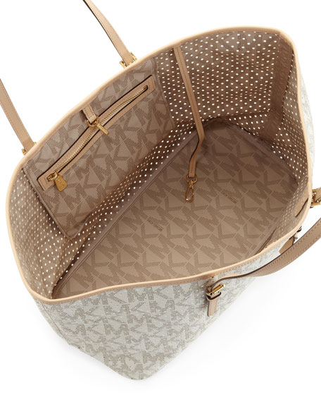 Medium Jet Set Perforated-Logo Travel Tote
