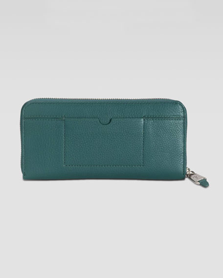 Linley Travel Zip-Around Wallet, Dark Teal