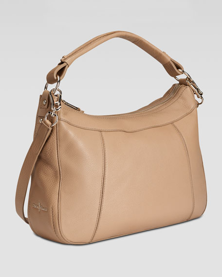 Linley Small Rounded Hobo Bag, Sandstone