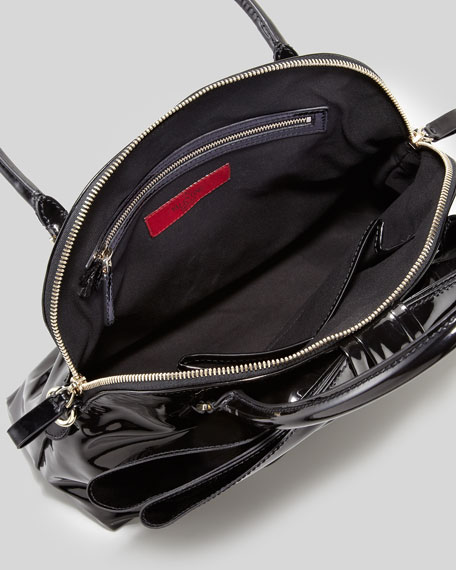 Lacca Dome Bow Bag, Black