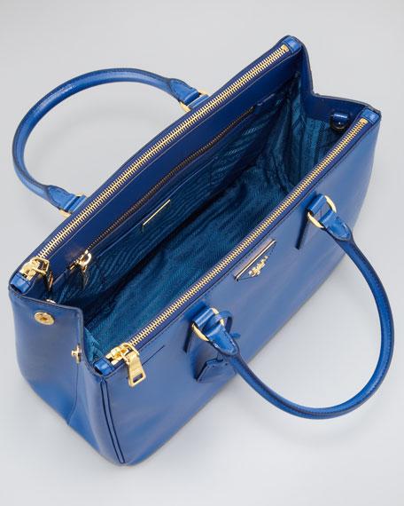 Saffiano Executive Small Tote Bag, Azzurro